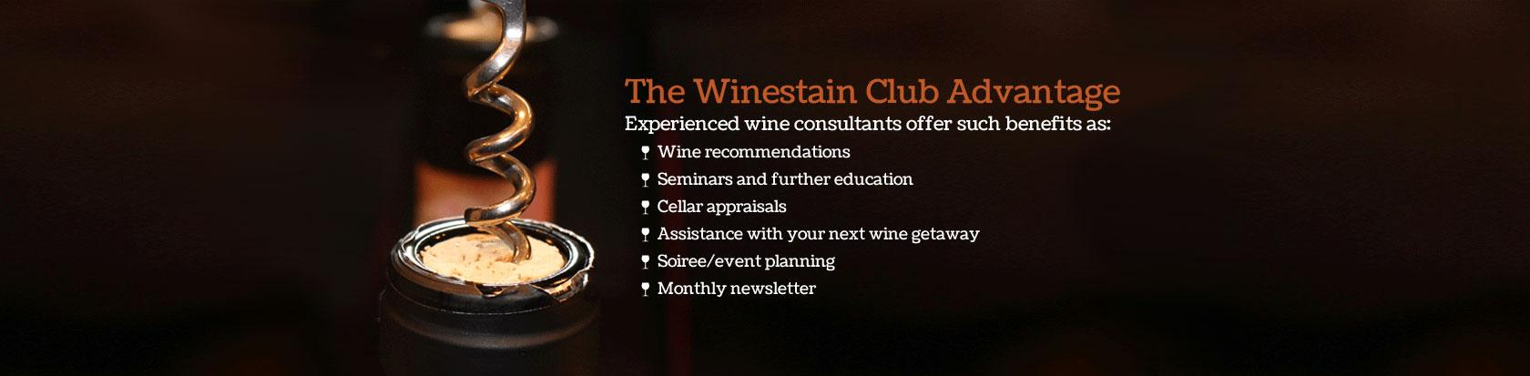 The Winestain Club Advantage